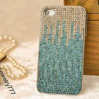 Case for iphone 4 4s case iphone 5 5s cover, sparkle diamond stud bling iphone 5&5s handmade case cover high quality