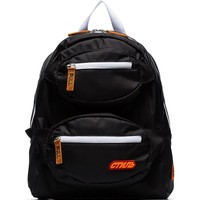 Construction Accent Black Backpack by Heron Preston
