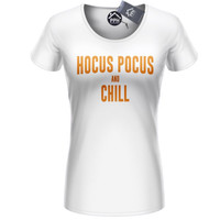 Hocus Pocus and Chill Tshirt Funny Womens Shop Mens Sanderson Halloween Top 409