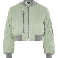 PETITE Pocket Detail Bomber Jacket - Jackets & Coats - Clothing