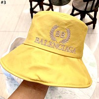 Balenciaga 2019 new gold standard embroidered cotton fisherman hat cap #3