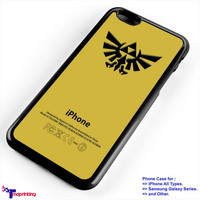 amazing gold The Legend of Zelda logo - Personalized iPhone 7 Case, iPhone 6/6S Plus, 5 5S SE, 7S Plus, Samsung Galaxy S5 S6 S7 S8 Case, and Other