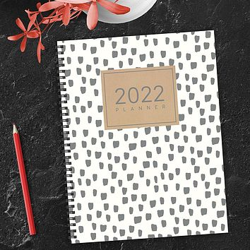 Spots of Dots Large Weekly Monthly Planner + Coordinating Planning Stickers