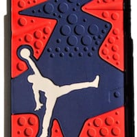 "Jordan Retro ""Dark Blue/Red"" 6 Phone Case"