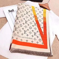 LV hot selling casual male and female scarf fashion patchwork color jacquard cashmere scarf