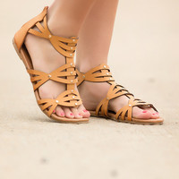 Ready for Battle Gladiator Sandals-Camel