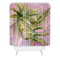 Rosie Brown Tropical Foliage Shower Curtain Sample Sale