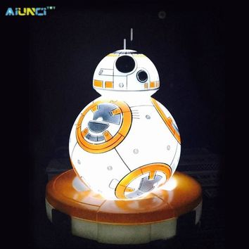 Star Wars Force Episode 1 2 3 4 5 AIUNCI Toys BB8 Action Figure table lamp The  BB-8 LED Lights Quiet sleep Night Light Toys for children + Original box AT_72_6