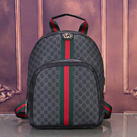 GG Canvas Mens and Womens Double G Backpack Shoulder Bag
