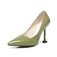 Pointed Toe Pumps Genuine Leather High Heeled Shoes 8877