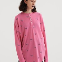 Lazy Oaf Floral Waffle Ls T-Shirt - Everything - Categories - Womens