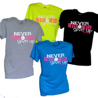 Never Never Give Up Volleyball T-Shirt