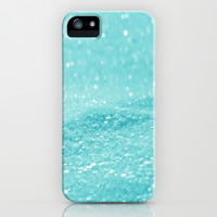 Glitter Turquoise iPhone & iPod Case by Alice Gosling