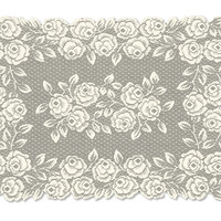 Tea Rose 14X20 Placemat, Ecru