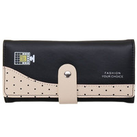 New Wallet Faux Purse ID Credit Card Holder Button Clutch