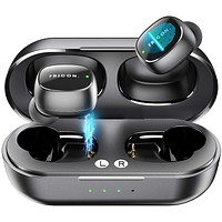 Wireless Earbuds,5.0 Touch Control Bluetooth Headphones with Charging Case,HD Stereo True Wireless Sport in-Earphones Builtin Mic/ 5 Hours Playtime Black