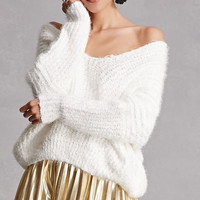 Fuzzy Off-the-Shoulder Sweater