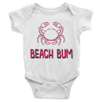 Beach Bum Infant short sleeve Onesuit