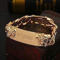 VERSACE Stylish Women Men Personality Hand Catenary Bracelet Jewelry Accessories