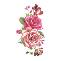 Flower Waterproof Temporary Tattoo Stickers for Adults Kids Body Art  Fake Tatoo for Women Tattoos