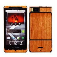 Skinomi® TechSkin - Motorola Droid X Screen Protector + Light Wood Full Body Skin / Front & Back Premium HD Clear Film / Ultra Invisible and Anti Bubble Crystal Shield with Free Lifetime Replacement