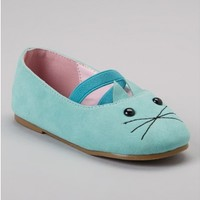 Vintage Inspired Girls Clothes Little Girls Blue Cat Mary Janes shoes | Vindie Baby