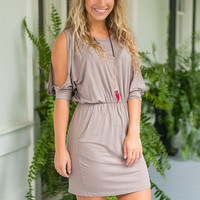 See Things My Way Dress, Taupe
