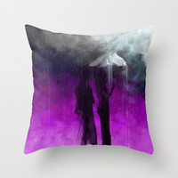 Not Enough Umbrella Throw Pillow by Jessielee