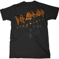 """New! Def Leppard """"On Target Pyromania"""" Classic Rock Band Licensed Adult T-Shirt"""