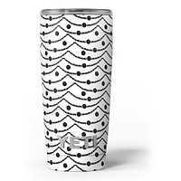 Slate Black Tiny Hearts on Powerlines - Skin Decal Vinyl Wrap Kit compatible with the Yeti Rambler Cooler Tumbler Cups