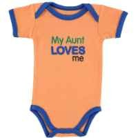 Baby Sayings Bodysuit - Relatives Boy, Aunt, 6-9 Months