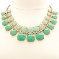Layered Ombre Stone Statement Necklace: Charlotte Russe