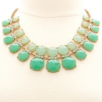 LAYERED OMBRE STONE STATEMENT NECKLACE