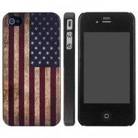 Antique and Rustic American Flag Snap On Case for iPhone 4/4S