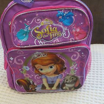 """DISNEY SOFIA THE FIRST LITTLE PRINCESS 14"""" PINK BACKPACK W/MULTIPLE POCKETS"""