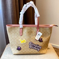 Free shipping: COACH Fashion Wild Women Shopping Bag Tote Bag Shoulder Bag