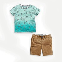 Boy's clothing sets casual children's clothing suits baby child cotton star t-shirts top+shorts trousers
