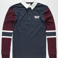 Vans Seymour Rugby Shirt Black Combo  In Sizes