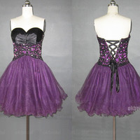 lace prom dresses, purple dresses, short prom dresses, cheap prom dresses, prom dresses 2014, sexy prom dresses, dresses for prom, RE453