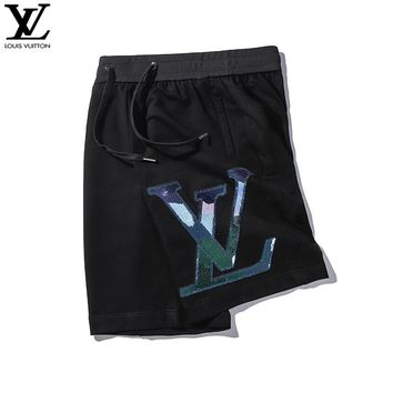 LV Louis Vuitton Summer Newest Casual 3M Reflective Sequins Sports Running Shorts