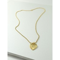Gold Angelica Heart Necklace