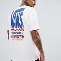 Vans Split T-Shirt With Back Print In White Exclusive To ASOS at asos.com
