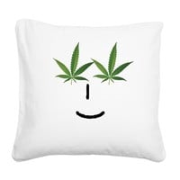 Pot Head Emote Square Canvas Pillow> The Pot Head Emote> 420 Gear Stop