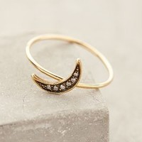 Waxing Moon Pave Ring by Workhorse Gold