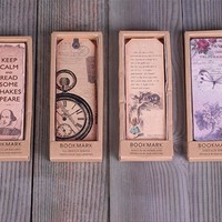 Vintage Bookmark Paper Book Marks,Alice in Wonderland,Keep calm,European Retro Bookmark