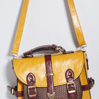Authentically Academic Bag in Mustard