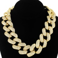 """30mm Icy Miami Cuban Choker 18""""-20"""" Necklace"""