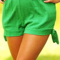 Lean On Me Shorts: Green