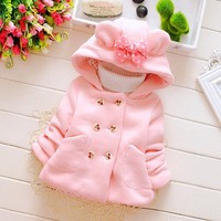 Winter Baby Girls Hooded Princess Jacket