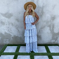 All About Me Floral Strapless Maxi Dress